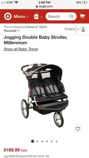 Double light weight baby stroller for Sale in Woodstock, GA
