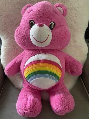 "CARE BEARS Cheer Bear 20"" 2015 JUMBO LARGE Soft Plush Rainbow Pink Stuffed Animal for Sale in San Ramon, CA"