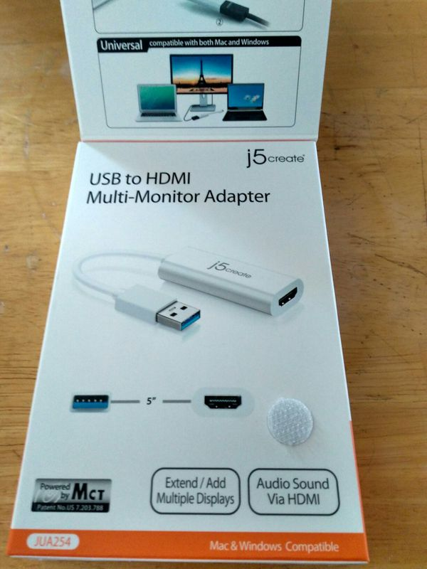 New never opened j5create USB to HDMI Multi Monitor Adapter