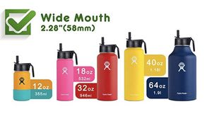 [New 2019] Straw Lid for Hydro Flask Wide Mouth Water Bottle, 2 Straws and 1 Straw Brush Included, Fitting Most Wide Mouth Bottle for Sale in Arlington, VA