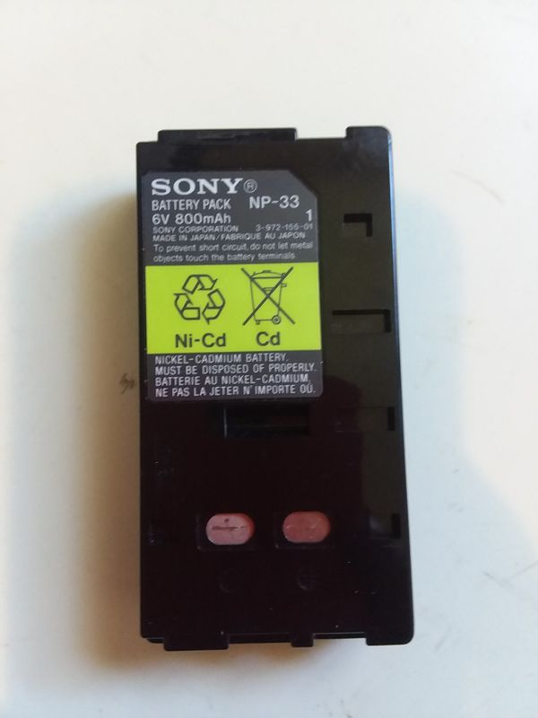 Sony Battery Pack 6V 800mAh Model NP-33.