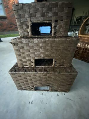 Wicker storage containers (3 sizes) for Sale in Houston, TX