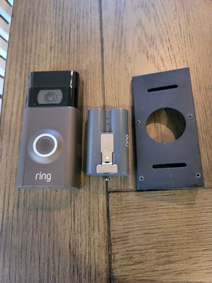 Ring doorbell 2 black with angle mount and battery. for Sale in Auburn, WA