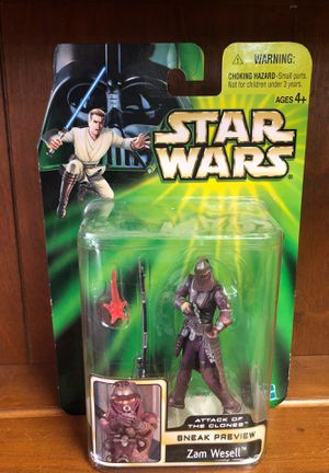 Zam Wesell Star Wars Episode 2 Sneak Preview Action Figure for Sale in Grand Prairie, TX