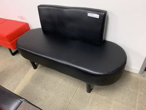 Barberpub Waiting Room Reception Chair Bench Business Office Medial Spa Salon Beauty Equipment 7002 Black for Sale in Montebello, CA