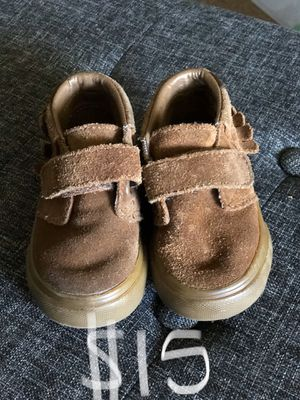 Vans moccasins size 4 leather baby toddler for Sale in San Dimas, CA