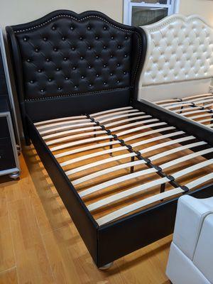 New queen black platform bed frame only for Sale in College Park, MD