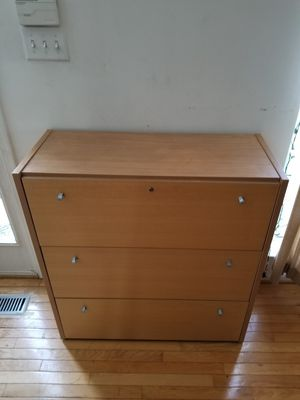 Solid wood file cabinet for Sale in Beltsville, MD