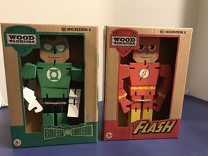 PPW Toys DC Wood Warriors Flash and Green Lantern Action Figures for Sale in Egg Harbor Township, NJ