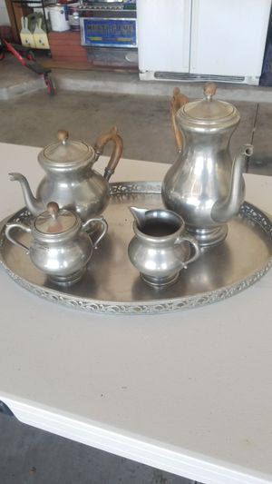 Pewter coffee and tea set for Sale in Sun City, AZ