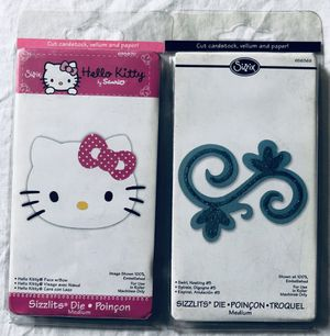 sizzix HELLO KITTY FACE + SWIRL die lot for Sale in Tustin, CA