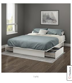 White King Platform Bed Frame With Storage Drawers for Sale in Los Angeles,  CA