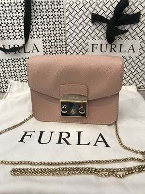 FURLA Metropolis Moonstone Leather Mini Cross Body Bag for Sale in Westlake, MD