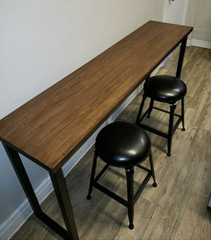 Industrial Counter Height Table with 2 Stools for Sale in Chino, CA