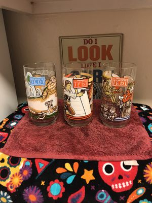 Star Wars 1983 return of the Jedi collectible glasses for Sale in Casselberry, FL