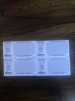 Knotts Berry Farm Tickets $40 for Sale in West Covina, CA