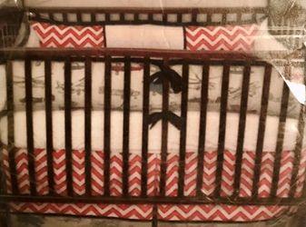 Airplane and Chevron Crib bedding for Sale in Prattville,  AL