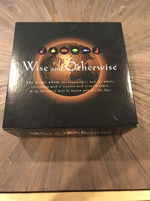 Wise and Otherwise Board Game for Sale in Houston, TX