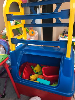 Toy box with blocks for Sale in Auburn, WA