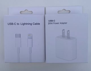 20w TypeS-C USB-C FLAT CHARGER Adapter For Apple for Sale in Linden,  NJ