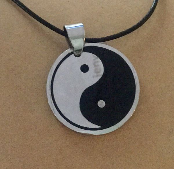 Stainless Steel Yin and yang Necklace