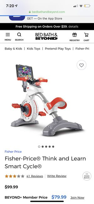 Fisher price toy smart cycle for Sale in Chico, CA