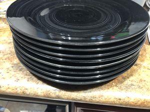 Black plates dinner for Sale in Los Gatos, CA