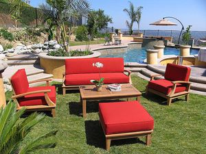Teak deep seat sofa set for Sale in Fountain Valley, CA