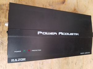 POWER ACOUSTIC-Razor 2500 watt amplifier. for Sale in Payson, AZ
