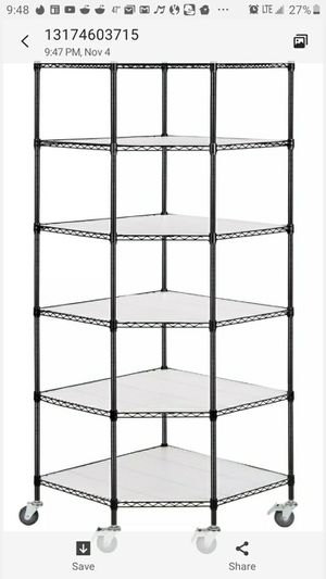 Six tier metal shelving with wheels for Sale in Indianapolis, IN