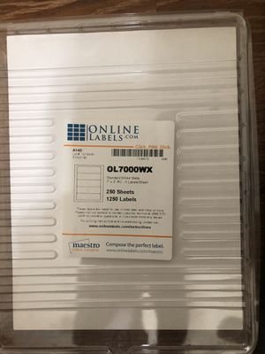 "{url removed} OL7000WX (7"" X 2"") Box of 250 for Sale in Phoenix, AZ"