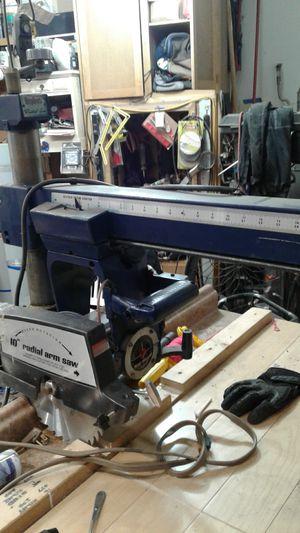 """Craftsman SHOPCRAFT 10"""" radial arm saw for Sale in Salem, OR"""