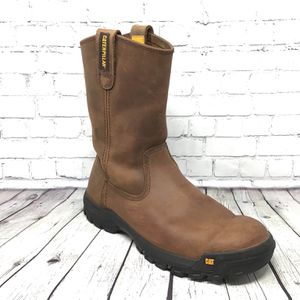 CAT Caterpillar Men's P51034 Drawbar Boots SIZE 9 Wide Slip Resistant Worn Once for Sale in Surprise, AZ