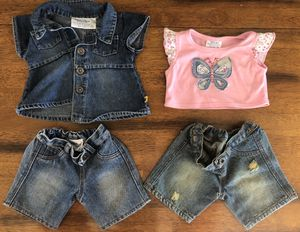 Build A Bear Jean Outfits (2) for Sale in Appleton, WI