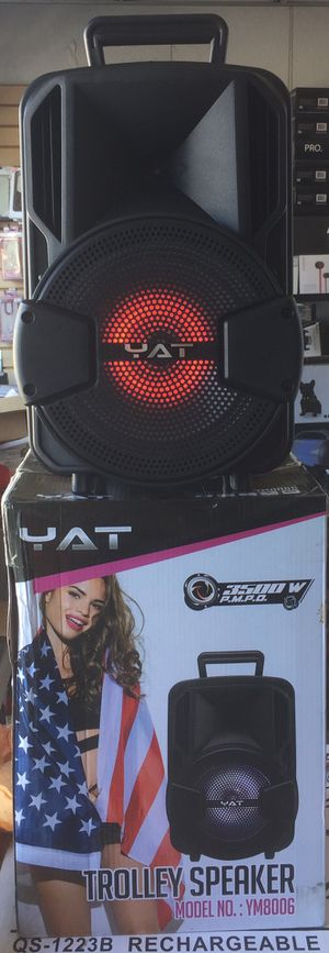 Eight inch Rechargeable Bluetooth speaker/aux/Fm/USB and SD port/many styles available/brand new for Sale in Moreno Valley, CA