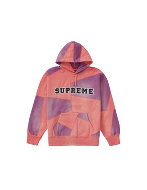Supreme Patchwork Hooded Sweatshirt Bright Coral for Sale in Los Angeles, CA
