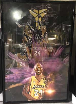 Kobe Bryant poster frame with black mamba for Sale in Hawthorne, CA