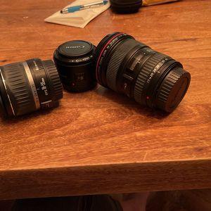 Canon Lens Bundle for Sale in Jersey City, NJ