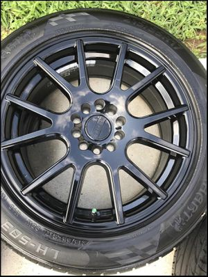New 17' Raceline Rims & Tires (Paid $1100) for Sale in Columbia, MD