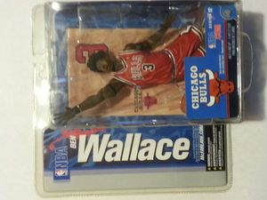 Chicago Bulls NBA Ben Wallace Black Alternate Jersey XXL 2XL Lot + Mcfarlane Ben Wallace Basketball Figure for Sale in Cicero, IL