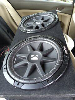 Kicker 12 and Rockford 500x2 for Sale in Spring Hill, FL