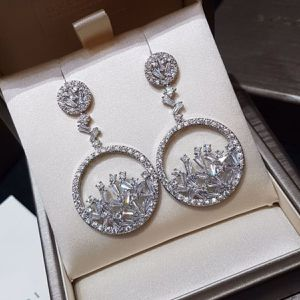 Cz diamond silver dangle earrings for Sale in Austin, TX