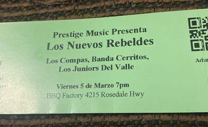 Los Nuevos Rebeldes Tickets for Sale in Delano, CA