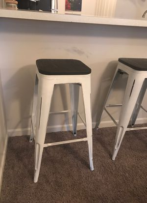 Rustic Bar Stools LIKE NEW (Set of 4) for Sale in Ann Arbor, MI