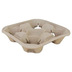 Bulk 300 SCT Molded Fiber Drink Carriers, 8-32oz Cups, 4-Cup Tray, 9 1/4x9 1/4x2 1/4 for Sale in Las Vegas, NV