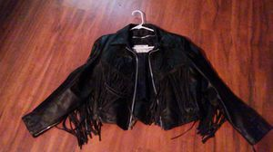 Leather Fringe Coat Small for Sale in Sand Springs, OK