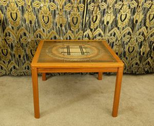 Mid Century Danish Modern Teak Abstract Tile Side End Table Vintage for Sale in Seattle, WA