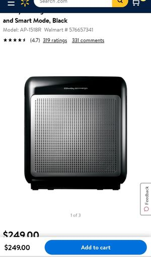 Coway Airmega 200M Air Purifier with True HEPA and Smart Mode, Black for Sale in Los Angeles, CA