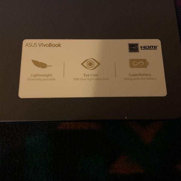 ASUS VivoBook 15, 873 GB Storage, Windows 10, 64 Bit Processor, 4 GB RAM