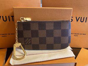LOUIS VUITTON DAMIER EBENE CLES KEY CHAIN POUCH BAG for Sale in Mokena, IL